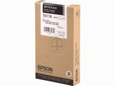 Epson Stylus Pro 9880 (T6118 / C 13 T 611800) - original - Tintenpatrone schwarz matt - 110ml -