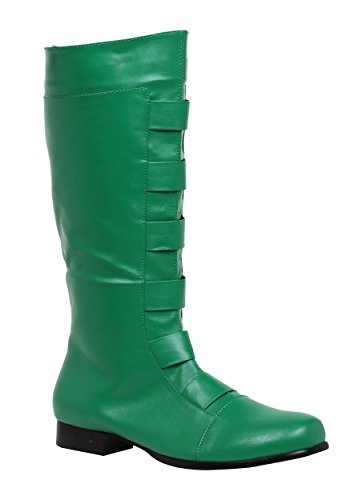Men's Green Costume Boots - Medium (10/11) by Ellie Shoes