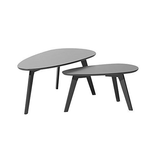 Lot de 2 Tables Basses Grises Fly II