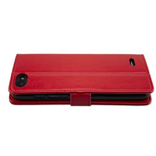 caseroxx Tasche Case Hülle Bookstyle-Case für Archos Core 57s in rot
