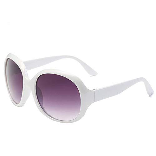 fazry Quadratische Sonnenbrille für Frauen Fashion Cat Eye Shade Brille Integrierte Streifen Vintage Brille Gr. Einheitsgröße, weiß