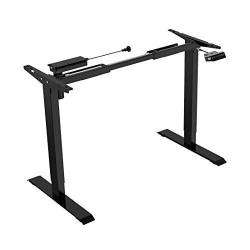Flexispot E1B Höhenverstellbarer Schreibtisch Elektrisch höhenverstellbares Tischgestell 2-Fach-Teleskop, mit Memory-Steuerung (Schwarz) - Tisch Frame