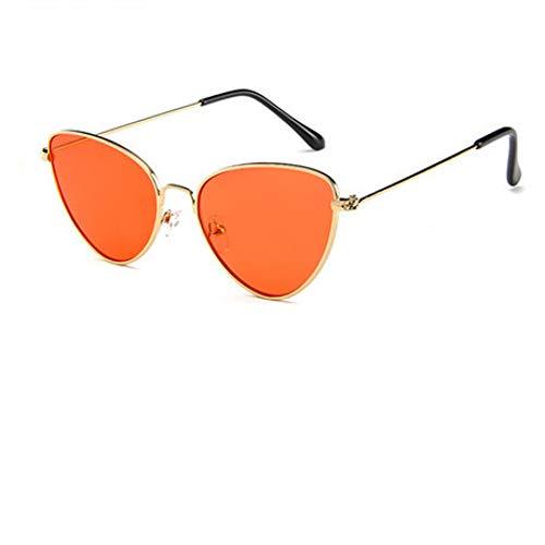 CCGSDJ Cat Eye Frauen Sonnenbrillen Getönte Farbe Objektiv Vintage Sonnenbrille Frauen Brillen Luxe Rote Weibliche Sonnenbrille