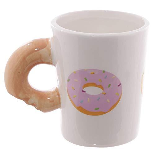 Muxue Becher Tasse Keramiktassen Heißer Kakao-Liebhaber-Tee-Kaffeetasse-Personalisierte Geschenk-Tagesgeschenk-Donut-Donuts