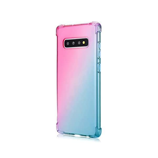 Oihxse Compatible with Galaxy A6S Case Clear with Gradient Colour Design, Soft Silicone [Air Cushion] [Anti-Yellow] Drop Protection Shockproof Fashion Slim Fit TPU Bumper Skin Cover-Green Pink Oihxse SLIM FIT - Fit snugly for Samsung Galaxy A6S without loose, deform and bulky as well as interfering the reception of [WiFi, Bluetooth, Signal, Wireless Charging] etc. 360 DEGREE ALL ROUND PROTECTION - Reinforced Air Cushion is adopted on 4 corners to reduce the damage of shocks, drop, and bumps. Built in micro dots on the inner surface to prevent the [Air Bubbles and Clinging] FASHION GRADIENT COLOUR - Adopted with stylish color blendent such as blue+purple, yellow+pink, green+pink, etc. on the clear TPU gel cover. Not only shows the beauty of your Samsung Galaxy A6S, but unique fashion sense. Suitable for girls, boys, women and men. 1