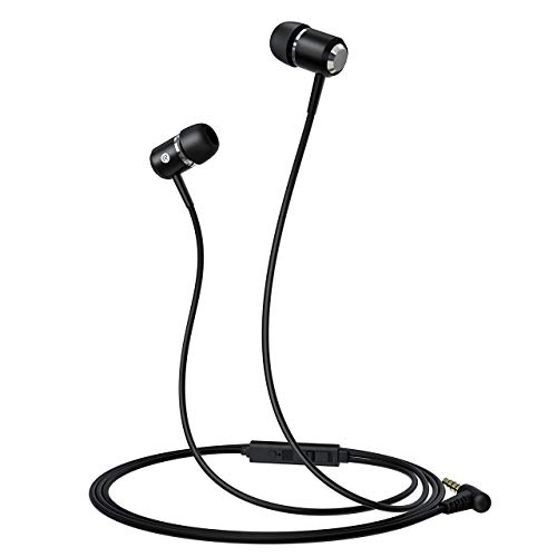 Mpow Upgraded In-Ear-Kopfhörer, kabelgebundene Ohrhörer mit Mikrofon, bequemer Sitz und klarem Sound, 3,5 mm Audio