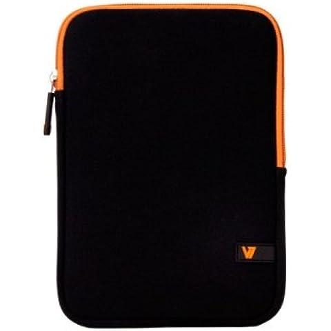 V7 Sleeve Custodia Protettiva in Neoprene per iPad mini nero/ arancione