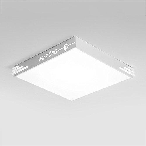 WQW Leuchte moderne LED-Deckenleuchte, atmosphärische Quadrat Wohnzimmer Schlafzimmer Leuchte Lampe Acryl Home Lampen (Farbe: White-Promise Dimmen 40 * 40 cm)