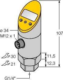 Turck Drucksensor PS400R-501 #6832229 LI2UPN8X-H1141 Druckschalter 4047101168372