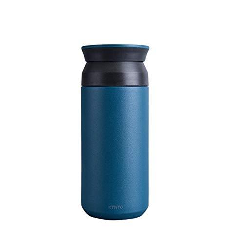 ZBBCC 350ML Thermos Kaffeetasse Edelstahl Tee Thermomug mit Filter Reise Auto-vakuumflaschen Kaffee Thermobecher für Auto Geschenk (Blau) - Kaffee-filter-reisen