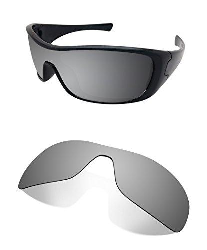 Littlebird4 1,5mm Polarisiert Ersatz-Objektive für Oakley Antix Sonnenbrille-Mehrere Möglichkeiten, Silberfarben verspiegelt