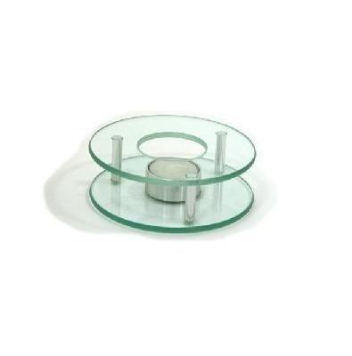 AXENTIA Stövchen Chrom/Glas 125 mm rund