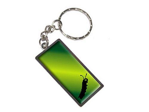 Inching entlang Raupe Schlüsselanhänger Ring (Entlang Gepäck)