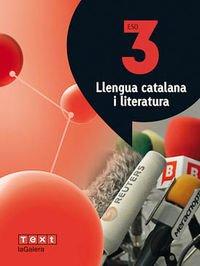 Llengua catalana i literatura 3 ESO Atòmium - 9788441223905