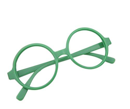 Cosanter Klassische Retro Brille rund Keyhole 40er 50er Jahre Vintage Look Baby Brillengestelle, Grün
