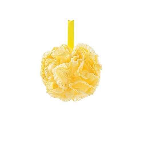 EXQUILEG Badeschwamm Körper Badeschwamm Duschschwamm Bad Ball Bath Blume Blasen Schäumendes Body Scrubber (Gelb) -