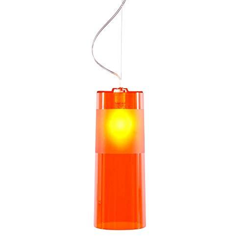Kartell Easy Spotleuchten und Leuchtensysteme, Polycarbonat, E14, Orange, 13 x 33 x 13 cm