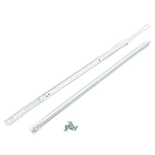 suki Schubladenteilauszug 400 mm, 1 Stück, weiß, 6200003 (Handwerker Wohnzimmer Schrank)