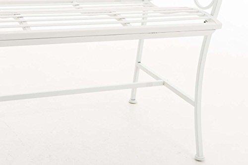 CLP Eisen Gartenbank YAMA, 2-Sitzer, Landhaus-Stil, Design nostalgisch antik Weiß - 5