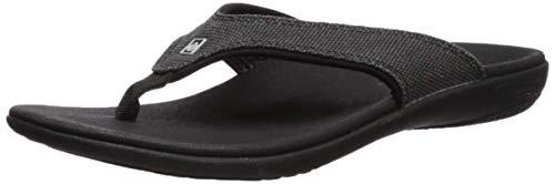 Spenco Uomo Yumi Flip Flop Sandalo, Uomo, 60354#0757994, Nero, Size 7/EU Size 40