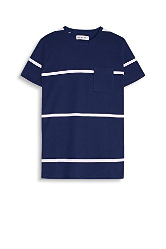 ESPRIT Collection Herren T-Shirt 057eo2k003 Blau (Navy 400)