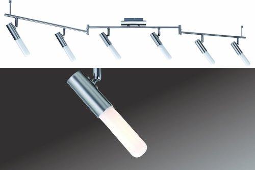 Spotlight - Bombilla salva energía, 6x10W Phorus 230V, E14, Brushed nickel