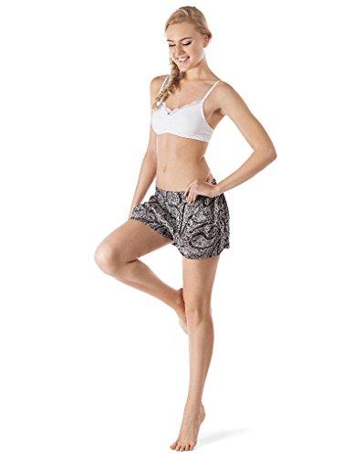 Skiny - Reflections Sleep / Da. Shorts, Pantaloni da pigiama Donna Black Paisley