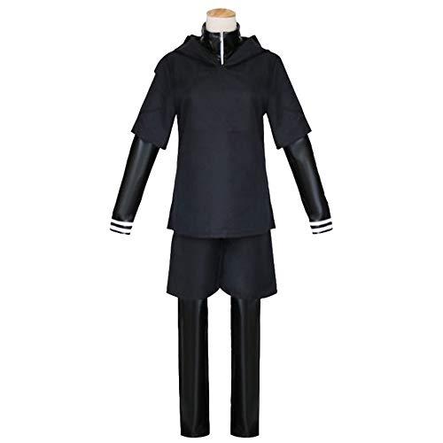 Kostüm Cosplay Anime Japanische - I TURE ME Tokyo Ghouls Ken Kaneki Cosplay Kostüm Kleidung Tokyo Ghouls Kleidung japanischer Anime Mens Anime Handsome Boy's Black Cosplay Costumes,L