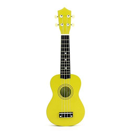 """LFDYKLL 21""""Ukulele Basswood Akustik Nylon 4 Saiten Ukulele Bunte Mini Bass Gitarre Musikinstrument für Anfänger 21 Zoll gelb"""