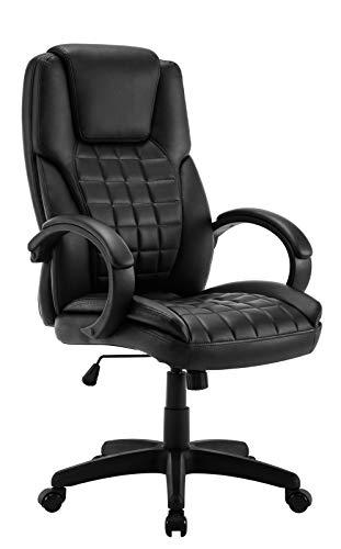 IntimaTe WM Heart Chefsessel, Ergonomischer Drehstuhl, Executive Bürostuhl mit hoher Rückenlehne, Hochverstellbarer Schreibtischstuhl 360 Grad drehbar, Schwarz