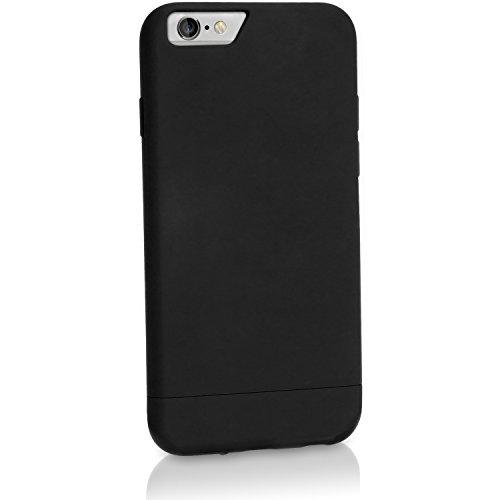 iGadgitz u3405Schutzfolie Glider-Kunststoff für Apple iPhone 6Plus 5.52014Hard Skin Case Cover Und Displayschutzfolie-Schwarz - Leder Glider