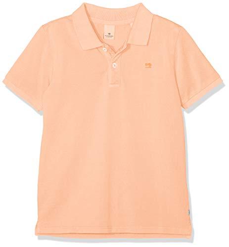 Scotch & Soda Shrunk Jungen Garment Dyed Polo in Pique Quality Poloshirt, Orange (Neon Cantaloupe 2851), 152 (Herstellergröße: 12)
