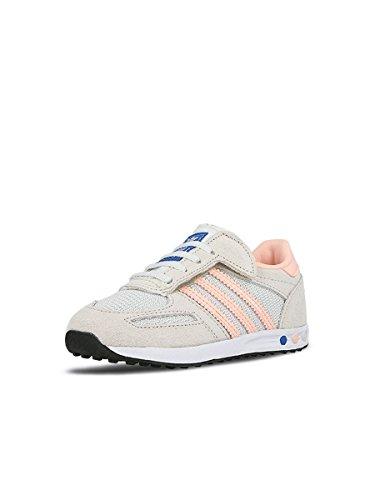 adidas Unisex Baby La Trainer Cf Sneaker Mehrfarbig (Vintage White/Haze Coral/Clear Brown)