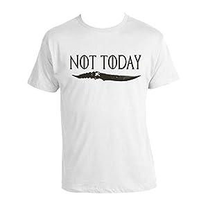 Arya Stark Not Today T-shirt game of thrones 100% Cotton Unisex GOT