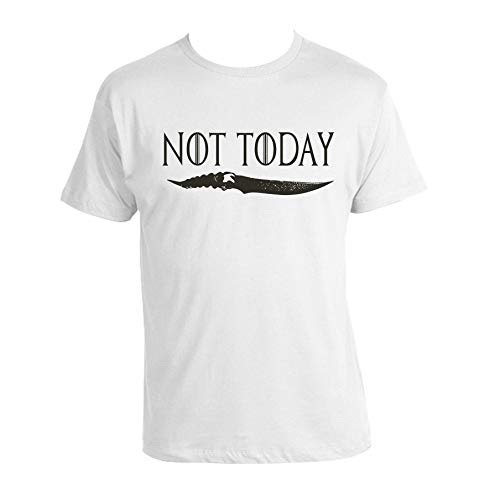 Arya Stark Not Today T-shirt game of thrones 100% Cotton Unisex GOT