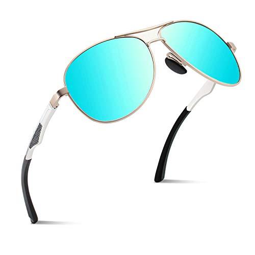 CGID Polarisierte UV400 Schutz Prämie Al MG Metall Rahmen Pilot Sonnenbrille Pilotenbrille Für Herren GA61