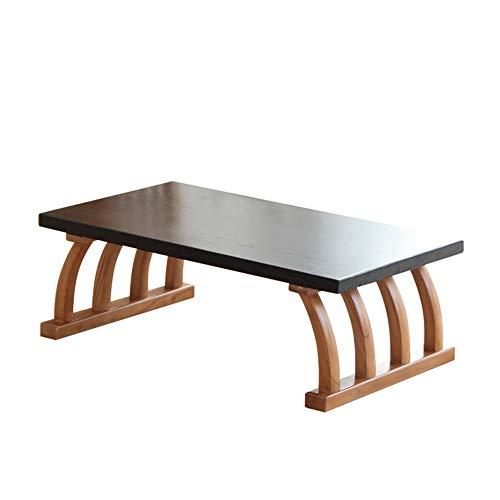 Tables HAIZHEN Pliable Basse rétro, Basse en Bois Massif de Salle à Manger Maison de de fenêtre Baie vitrée (Taille : 60 * 40 * 30cm)