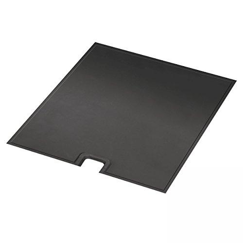 Justus Grillzubehör / platte Guss, schwarz, 62 x 38 x 2 cm, Grillplatte für Zeus 1310 76