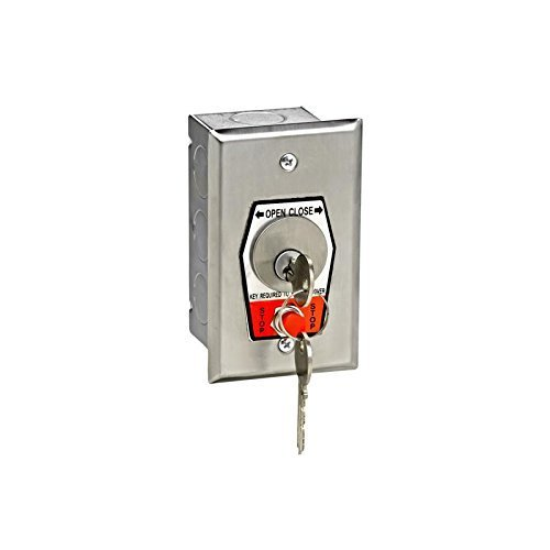 MMTC HBFS NEMA 1 Interior OPEN-CLOSE Key Switch with Stop Button in Single Gang Back Box Flush Mount by MMTC Gang Flush Mount