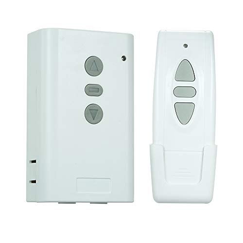 OWSOO Interruptor de Control Remoto Inalámbrico RF AC220V 2CH 433MHz y 1PCS 3 Claves RF 433MHz Transmisor Mando a Distancia 1527 Chip para Pantalla de Proyección Eléctrica Puerta de Garaje