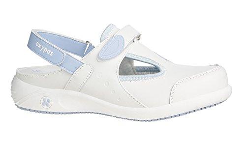 Oxypas Move Carin Slip-resistant, Antistatic Nursing Shoes, White (Lbl) , 7 UK (EU: 41) Bianco (White (Lbl)
