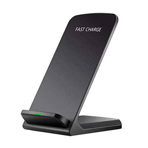 Bascar Wireless Charger, Ladegerät für iPhone XS/XS Max/XR/X/ 8/8 Plus, kabelloses Induktive Ladestation Schnellladestation für Samsung Galaxy S10 S10+ S10e S9+ S8 Plus S7 Edge Note 9 usw (Schwarz) (Smart Phones Verizon-handys)