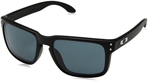 Oakley Herren Sonnenbrille Holbrook 9102E8 55, Schwarz (Matte Black/Prizmgrey)