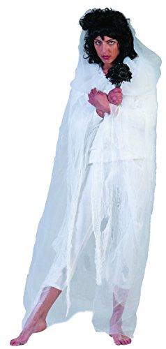 erdbeerclown - Damen Halloween Karneval Kostüm Geist-Umhang, Robe Scream , One Size, Weiß