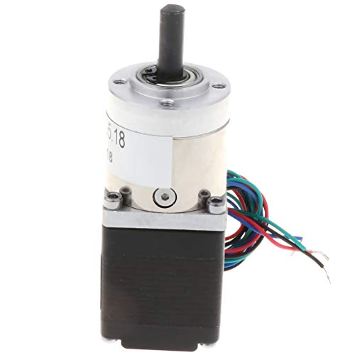 F Fityle Mini Motor Reductor de Engranajes Planetarios Motor de Pasos de Eje Doble 28mm 0.67A