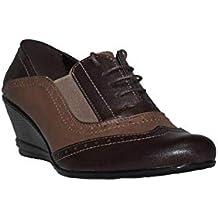 VATINERIS - Zapato Inglés Cuña D0386 Zapatos Cuña Cómodos Mujer ...