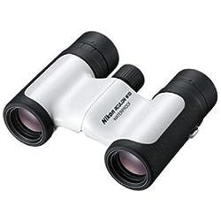 Nikon W10 8x21 Jumelles Blanche Étanche et Anti Buée, Ultra Compact
