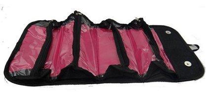 Woogor Roll N Go Travel Buddy Cosmetic Toiletry Bag (Black)