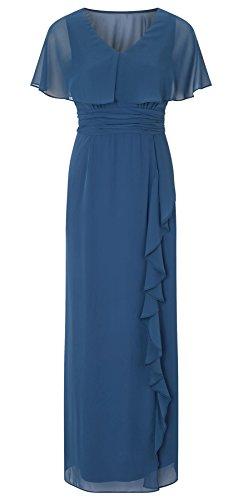 Amaris Chiffon Cape Maxi Dress