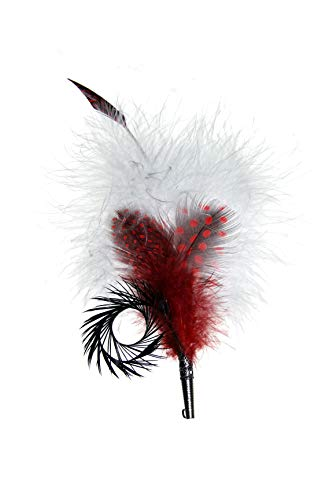 Gollwitzer Schmuckfedern Echte Hutfeder von Perlhuhn, Gans und Pute, mit Hülse, für den Trachtenhut